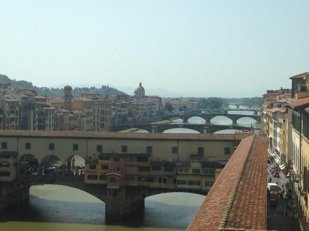 Galeria Uffizi widok z kawiarni