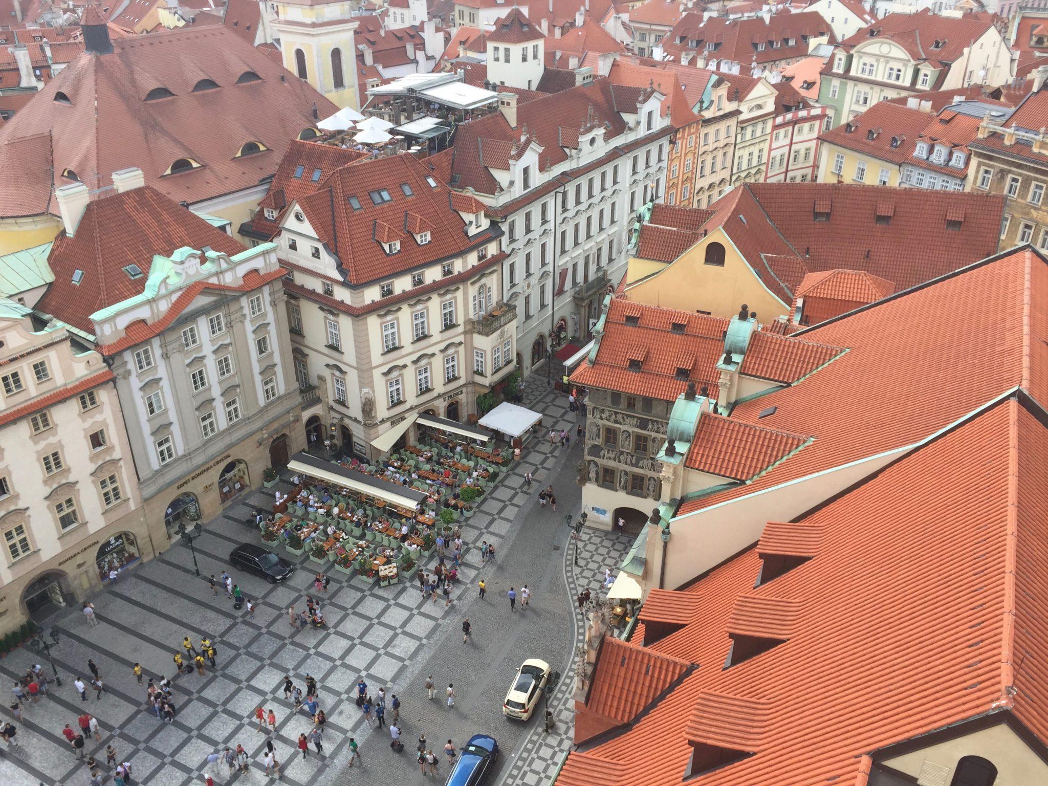 Widok z Ratusza Praga