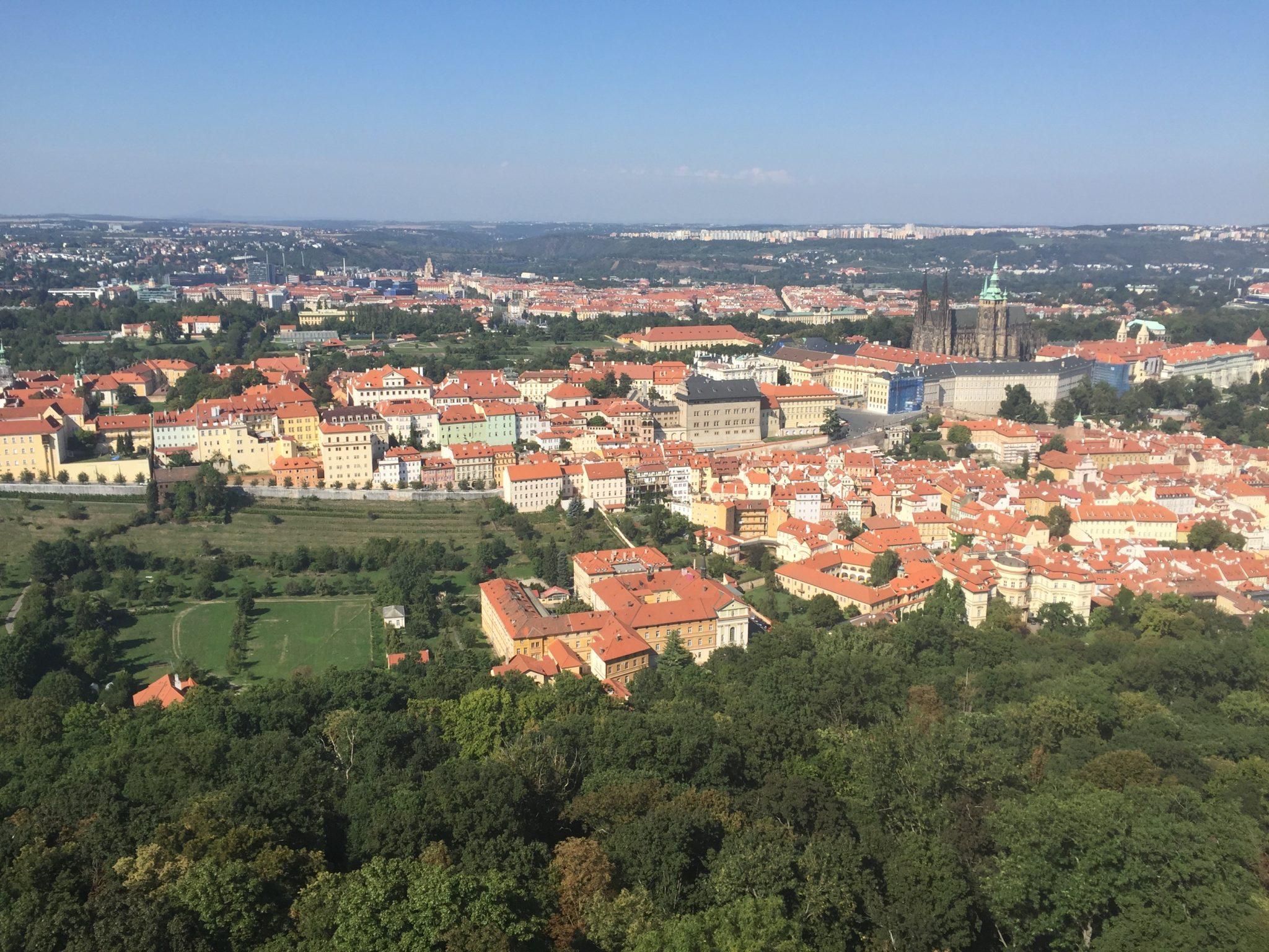 Widok z Wieży Petrińskiej