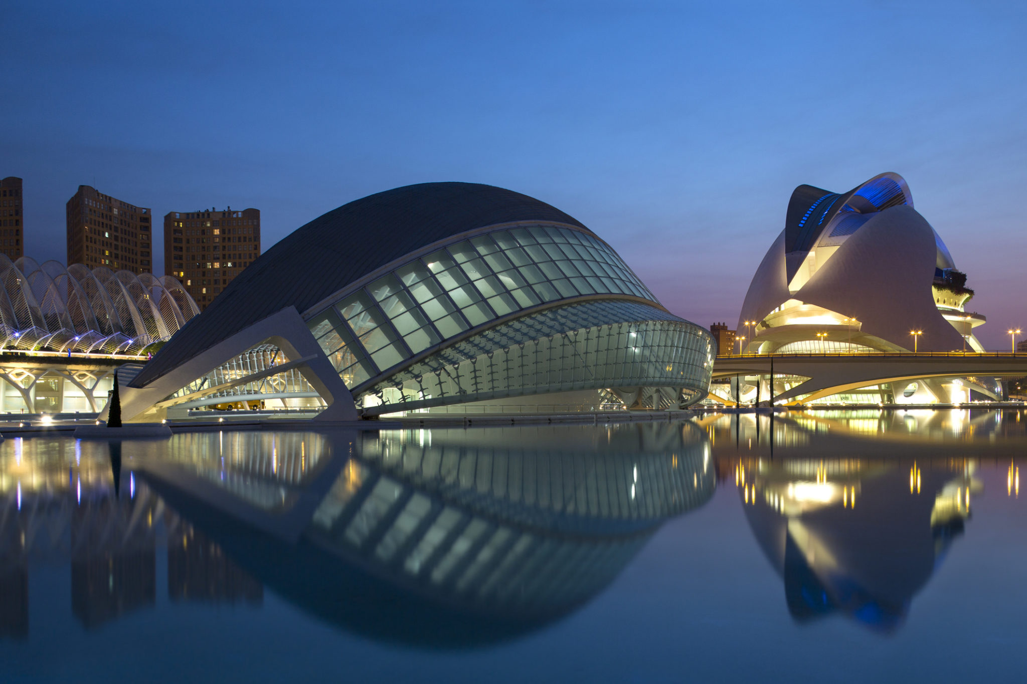 Miasteczko Sztuki i Nauki w Walencji (Ciudad de las Artes y las Ciencias)