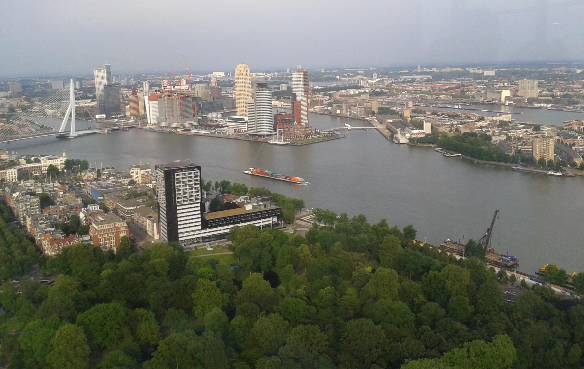 Rotterdam widok z Euromast