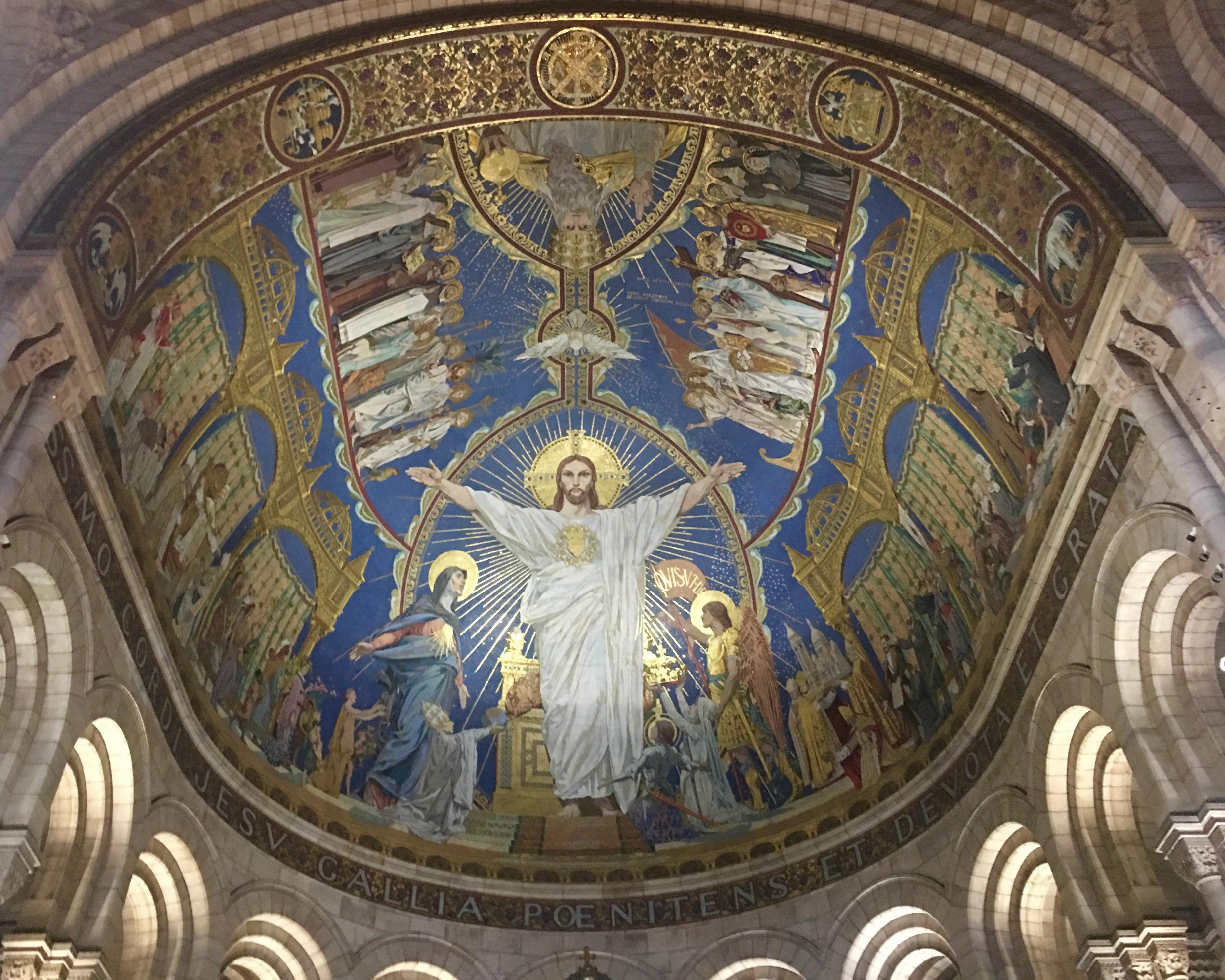wnętrze bazylik Sacre-Coeur