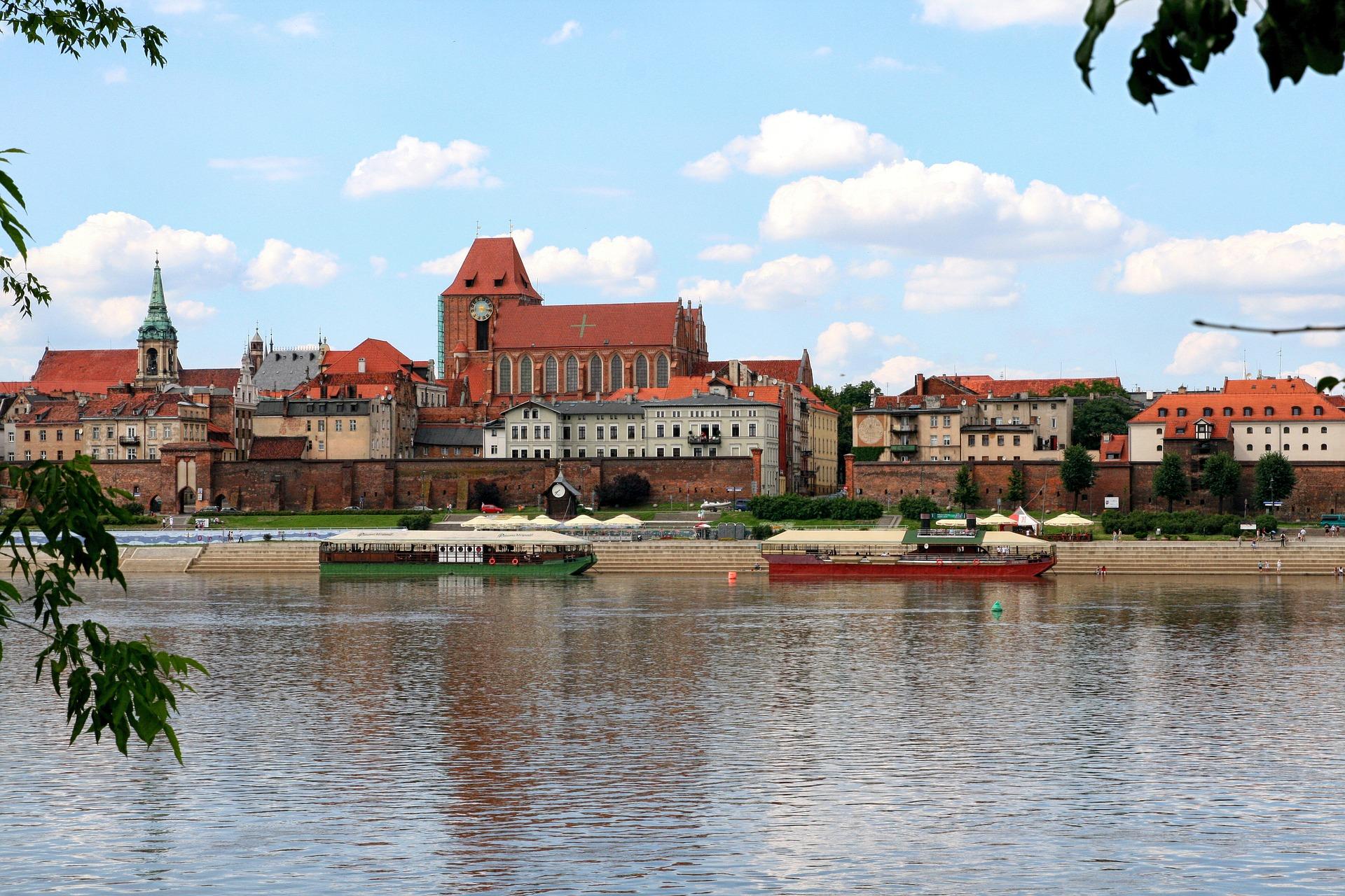 toruńska panorama widziana z punktu widokowego